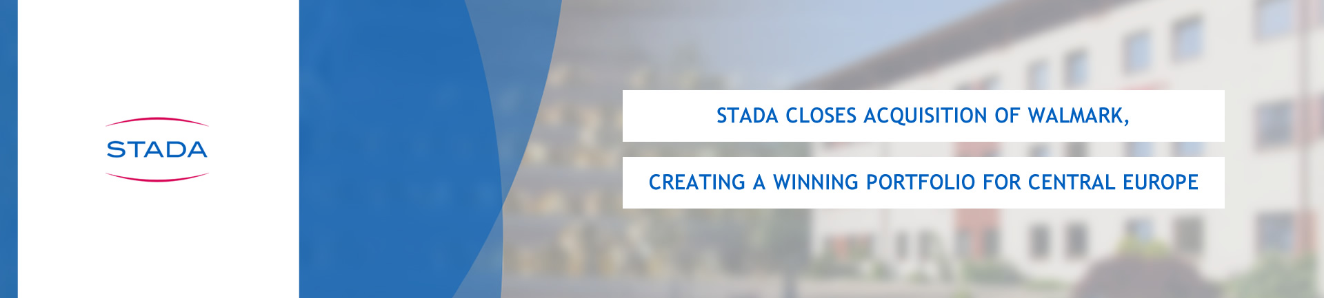 STADA closes acquisition of Walmark, creating a winning portfolio for Central Europe